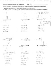 Printables Graphing Rational Functions Worksheet worksheet rational functions 1 answers 2 pages notes discovery activity graphing and asymptotes answers