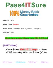 New Pass4itsure Cisco 400-251 Dumps PDF.pdf