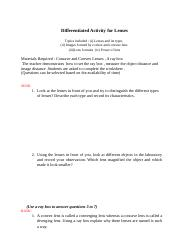 Differentiated Worksheet  for Grade 10 (Reflection and Refraction of Light) (1).doc