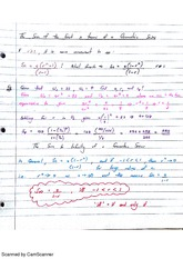 Geometric Series and Notations Class Notes 10