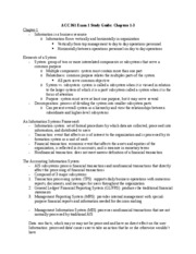 ACC 361 Exam 1 Study Guide