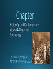 Chapter 2 Historical and Contemporary Views of Abnormal Psychology (no videos) (1).pptx