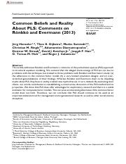 Common Beliefs and Reality About PLS Comments on Ro¨nkko¨ and Evermann (2013).pdf