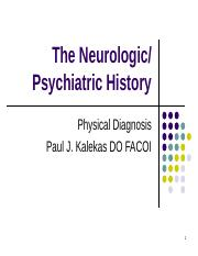PD Neurologic and Psychiatric History (1)