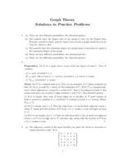 Spring 2015 Graph Theory Practice Problems Solutions