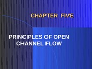 Parameters of Open Channels