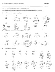 Printables Simplifying Radical Expressions Worksheet Answers simplifying radical expressions with key 8 6 rational