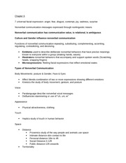 Intro to communication final study sheet