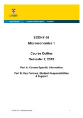 ECON 1101 Course outline