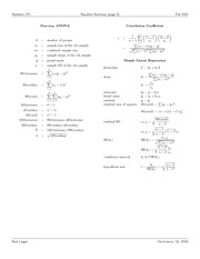 biostats equation sheet