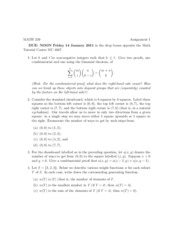 Math 239 Assignment 1