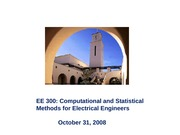 EE 300 - LECTURE 23 - (10-31-08)