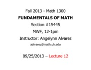 Lecture 12 - Math 1300 - 092513 - FILLED