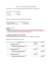Chapter 9 Estimating and reporting bad debts