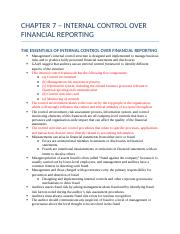 CHAPTER 7 – INTERNAL CONTROL OVER FINANCIAL REPORTING.docx