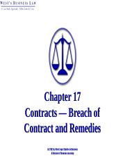 Chapter 28 Breach of Contract
