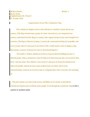 Argumentative essay  The confederate flag