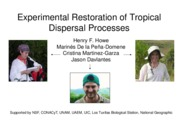 Class 2 Restoration of tropical dispersal processes (2015)