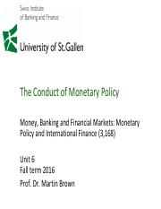 06 The Conduct of Monetary Policy