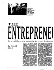 The Entrepreneurial Self Article