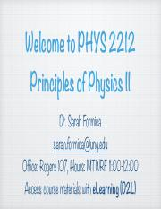 PHYS 2212 - Chapter 21 Lecture Notes
