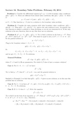 Lecture 16 on Boundary Value Problems