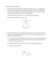 Exam 1 Review Solutions