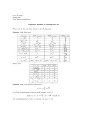 Microeconomics Problem Set #4 Answers