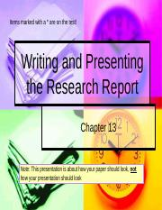 Ch 13 Writing the Research Report.pptx