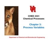 Ch3 Process variables-notes