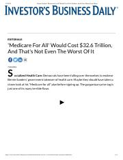 Bernie Sanders' 'Medicare For All' Would Cost $32.6 Trillion, And It Gets Worse From There.pdf