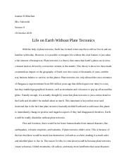 Task #10- Earth Without Plate Tectonics Essay