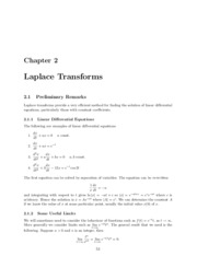 HMS211 Laplace Transforms