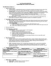 ACC 450 Final Exam Study Guide