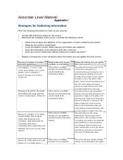 Strategies for Gathering Information.docx