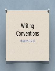 9 Conventions of writing