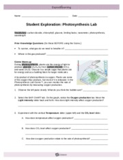 PlantsSnailsSE - Name Date Student Exploration Plants and ...