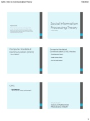 CH11+Social+Information+Processing+Theory