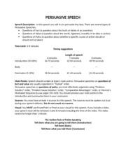 Persuasive speech order