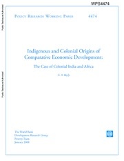 Bayly 2008 Indigenous and Colonial Origins of Comparative Economic Development