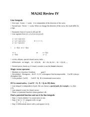 Quiz D Review on Calculus