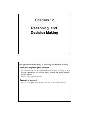 12 - Reasoning and Decision Making - (printout)