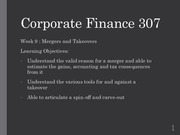 Fin Corp 307 Week 9 Lecture