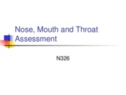 Nose, Mouth and Throat Assessment