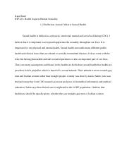 IHP 323 1-2 Reflection Journal What is Sexual Health.docx