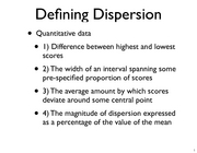 Lecture 6 Dispersion