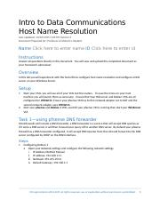Lab 07 Host Name Resolution.docx