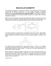 Expt 11 - Molecular Geometry - FA 2009