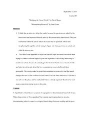 English Journal 3 Essay