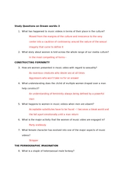 Study Questions on Dreamworlds 3